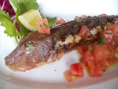 メインディシュの魚