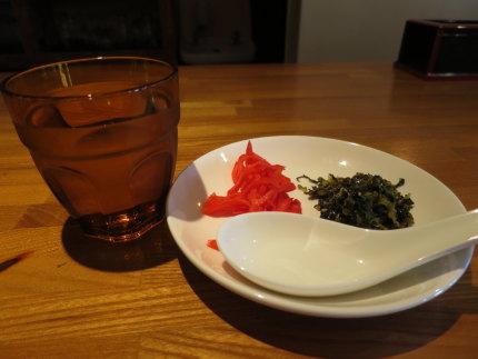 水と高菜と紅ショウガ
