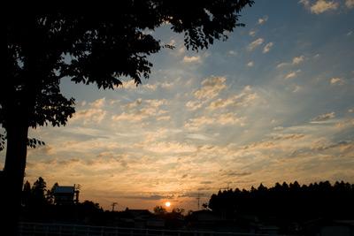 夏の朝焼け