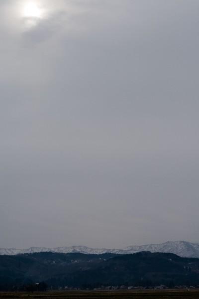 雪の降り始めの風景