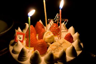 レ・ドゥーのクリスマスケーキ