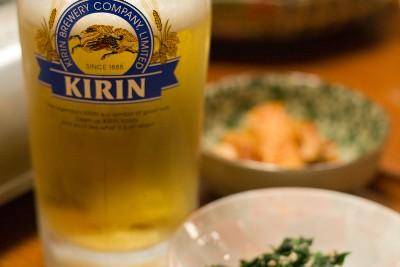 ビールで、乾杯!