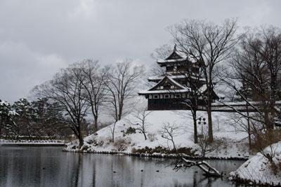 雪の高田城