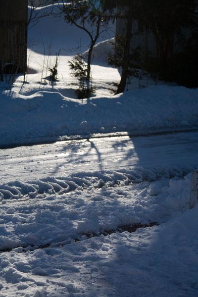 除雪車が通っていきました