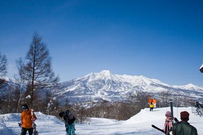 晴れた日のスキー