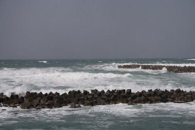 テトラポットだらけの海