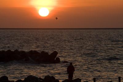 釣り人も祝福