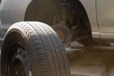 普通タイヤに交換した