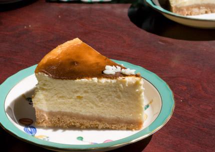手作りのチーズケーキ