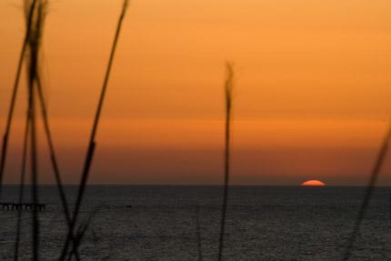 静かに太陽は沈んでいきます