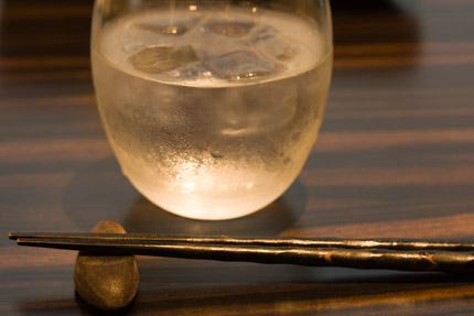 お箸とお水