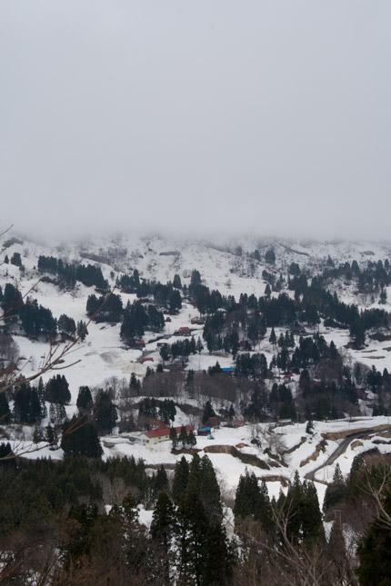 大厳寺高原から見える里の風景