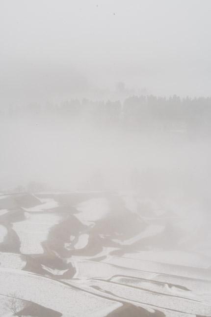霧があたりを覆い尽くしていた