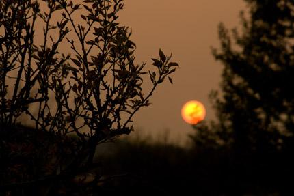 太陽は沈んでゆきました