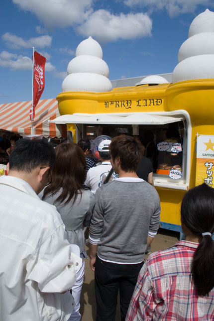 ソフトクリームを食べました
