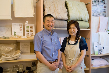 五代目店主、笹原誠さんと、奥さん節子さん