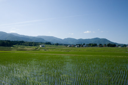 妙高山と反対の景色