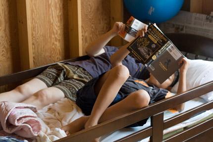 昼寝と読書