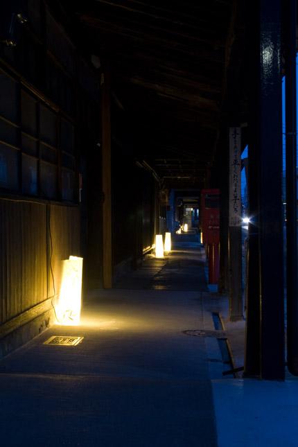 大町通りの灯り