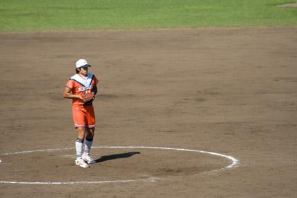 上野由岐子投手投球フォーム1