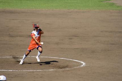 上野由岐子投手投球フォーム4