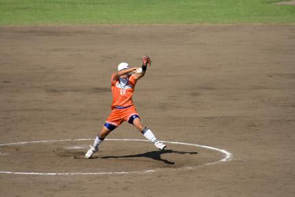 上野由岐子投手投球フォーム5