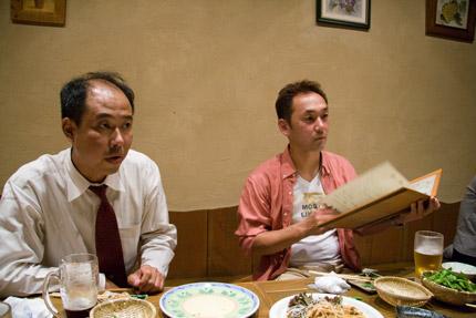 左から、商品レンタル会社社長。張本人の菓子職人。
