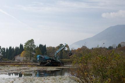 いもり池は、浚渫工事