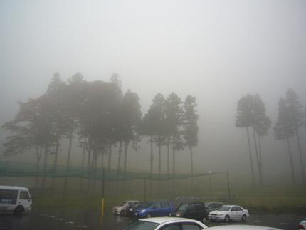 帰る時には霧