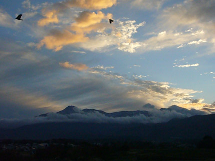 妙高山の夕焼け