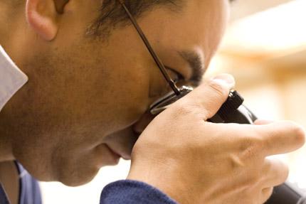 鋭い眼光の加藤先生
