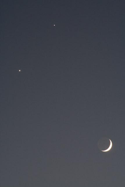 木星と金星と月、最接近遭遇
