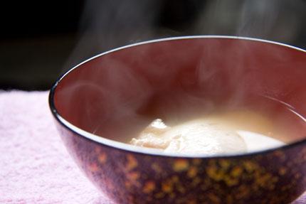 おぼろ豆腐の澄まし汁