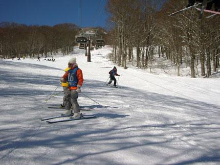 思いっきりスキーを楽しみました