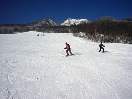 スキーを一緒に楽しんだ