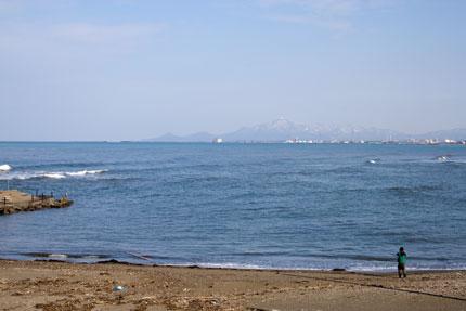 米山がよく見えました