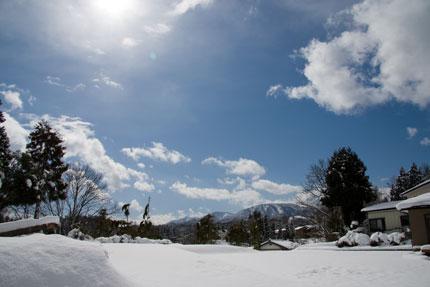 新潟県上越市に雪が降った