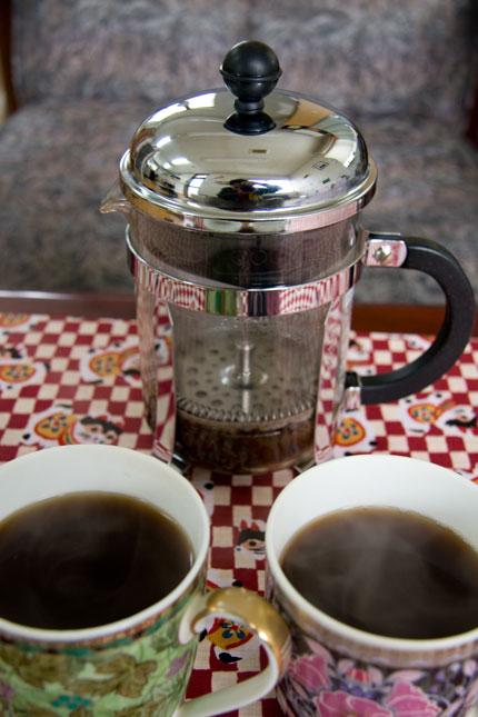 美味しいコーヒーが出来上がります