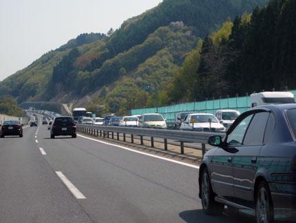 高速道は、渋滞になりました