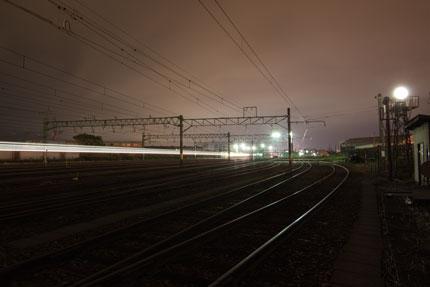 電車が通り過ぎる