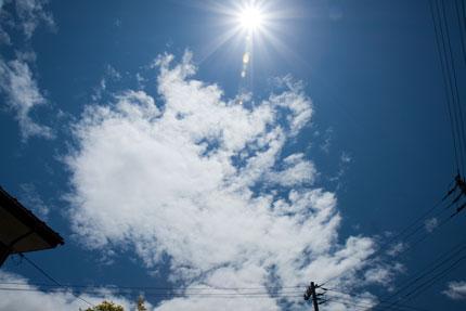 青い空が広がっていた日