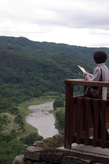 山や川を見渡し