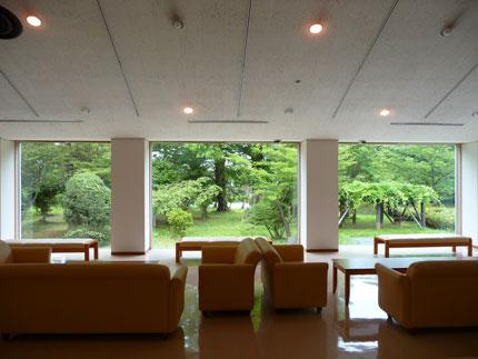 上越博物館の休憩室