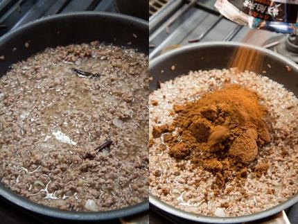 5分煮込みカレールウを入れて混ぜます