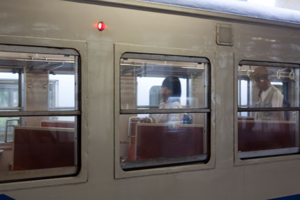 休日の電車
