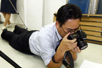 いつも楽しそうに撮影する加藤先生