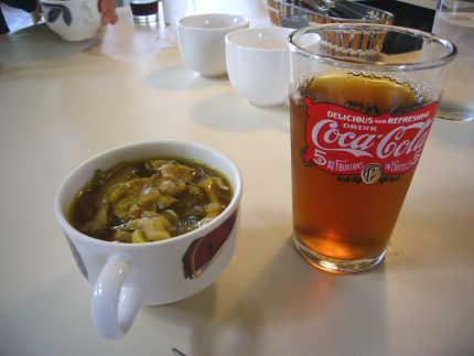おかわり自由のスープ