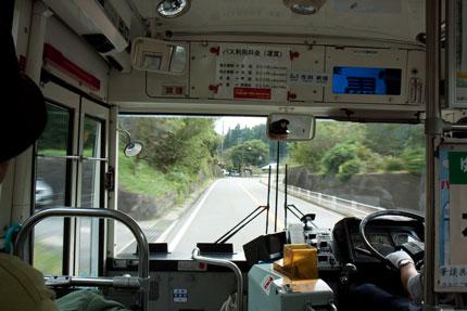 馬籠宿行きのバスに乗った
