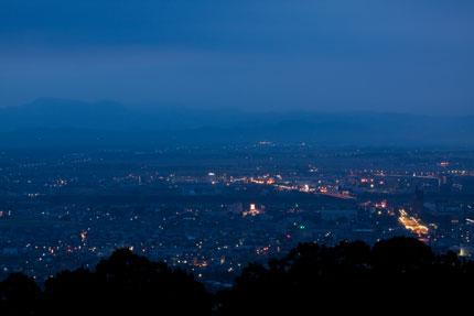 街の明かりが、美しい