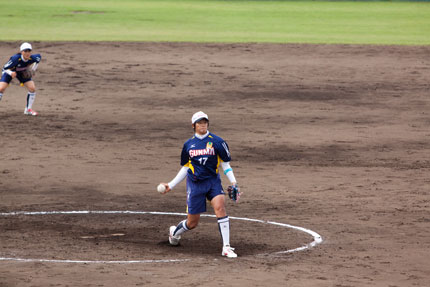 上野由岐子投手の投球フォーム